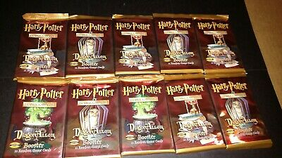 Lot Of 10 Harry Potter Diagon Alley Trading Cards TCG Unopened Booster Packs