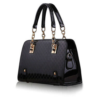 Women Handbag Leather Shoulder Bag Tote Purse Ladies Satchel Pouch Fashion Black
