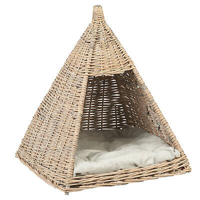 Me & My Pets Wicker Teepee Bed Cat/Kitten/Dog/Puppy Play Tipi House SALE #036