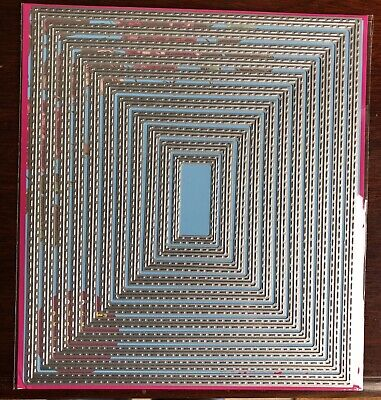 Large Stitched Inside Out Rectangle Craft Die. Cards, Scrapbooking Uk Selling