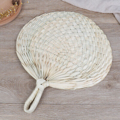 Decorative Hand Fan Straw Hand-woven Wedding Souvenir Handheld Bamboo Dance  Jv