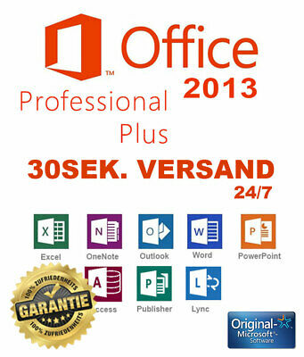 MS Office 2013 Professional Plus ✔ Pro Plus ✔ Lizenz ✔ VOLLVERSION ✔ 32/64BIT