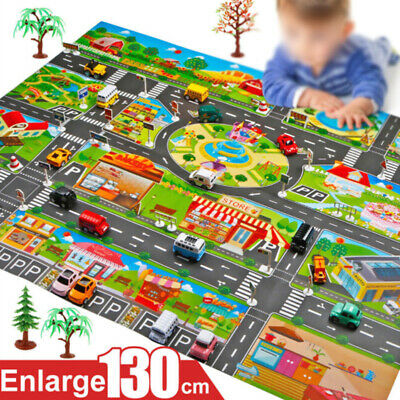 Kid Child Road City Buildings Car Parking Map Board Game Large Map Play Mat Toys
