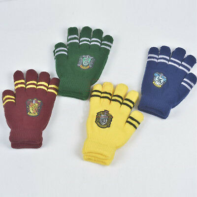 1 pair Harry Potter Touch Gryffindor Slytherin Hufflepuff Winter Warm Cute Glove