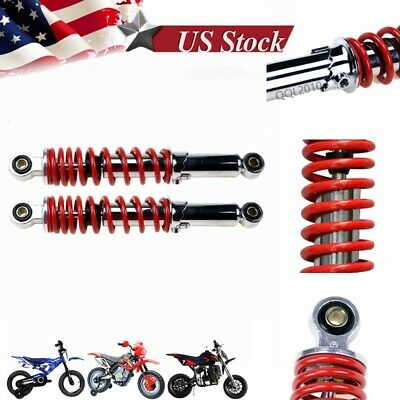 "GLF   Pair 11/"" 280mm Rear Gas Shock Absorbers ATV Quad Buggy Pit Bike Red"