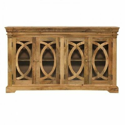 French Arched Natural Glass Door Sideboard
