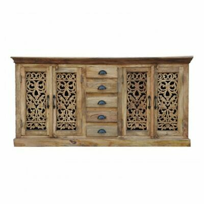 Jali Solid 5 Drawers Wooden Sideboard