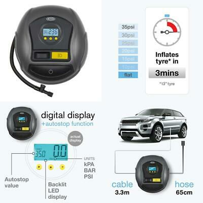BEST Ring RTC500 AIR Compressor Digital Inflator With Auto Stop LED Rin UK STOCK