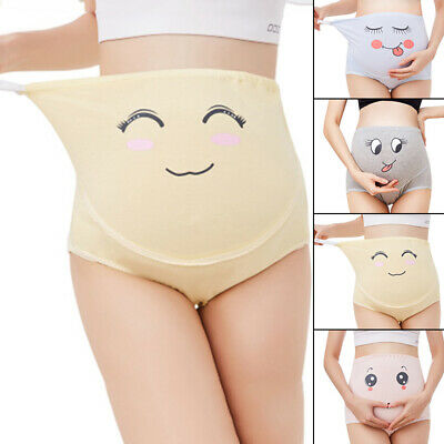 Pregnant Panties Maternity Brief Underpants Cotton Cartoon Knickers Comfy Women