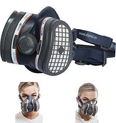 SPR338 Elipse A1P3 Dust And Organic Vapour Half Mask Respirator Filters Ready Fi