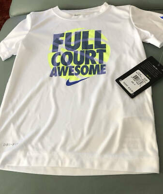 Nike Boy's Shirt Size 4T NEW Dri-Fit Full Court Awesome White