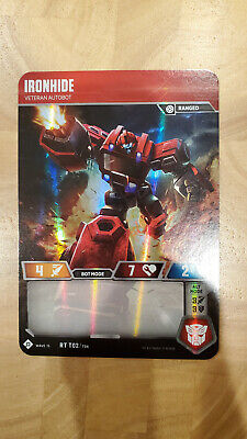 Transformers Trading Card Game TCG -  Rare Ironhide RT T02 Veteran Autobot