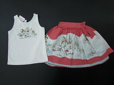 Janie /& Jack Scenic Locale Floral Tank Top 2T LR