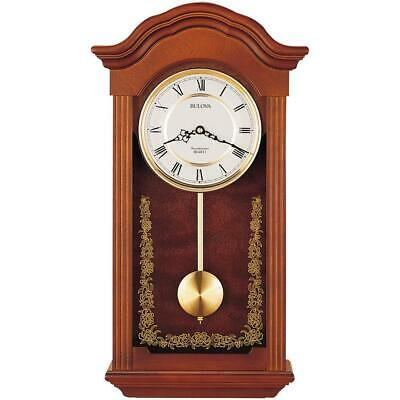 Wall Clock Pendulum Chime with Adjustable Volume Control, 22.5 in. x 12.25 in.