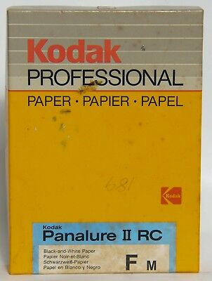 Vintage Kodak Panalure II RC Paper Paper FM  - 100–5X7 Sheets -  Expired 07/1986