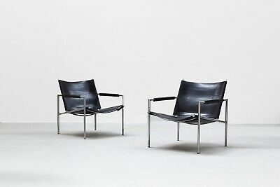 2 Lounge Chairs by Martin Visser for Spectrum 1960s, midcentury