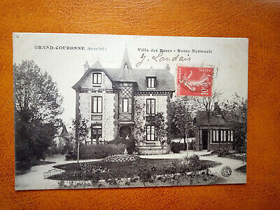 Cpa GRAND COURONNE - Villa des Roses - Route Nationale