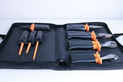 Klein Tools 33526 - 8-Piece 1000-Volt Basic Insulated Tool Kit With Case - Used