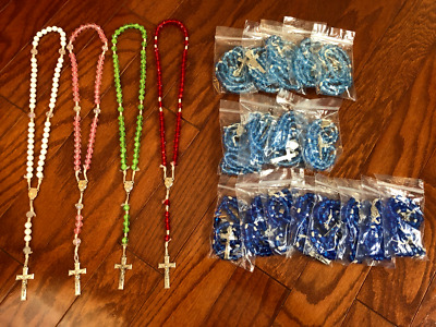 Lot of 21 Rosaries Rosary Hand Made Quality Youth Groups Classroom Student Beads