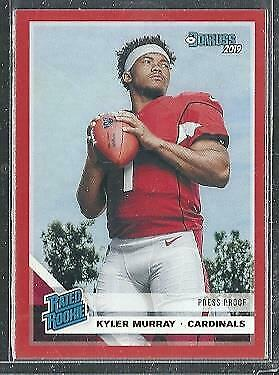 2019 Donruss #302 Kyler Murray Red Press Proof Rated Rookies Rookie Card
