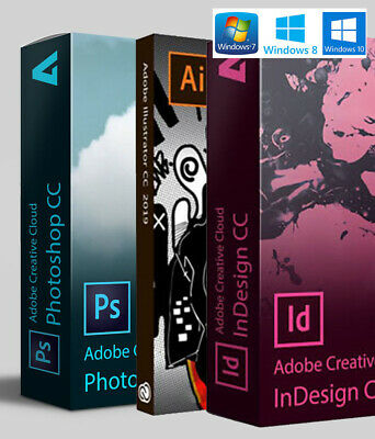 Adobe Photoshop 2019 | Illustrator | InDesign | License file