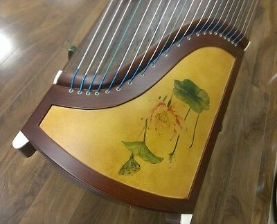 """53"""" Travel 21-String Rosewood Guzheng, Chinese Zither Harp with Stands"""