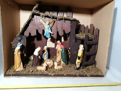 Vintage CBC Products Christian Nativity Set 12 x figures - boxed and rare