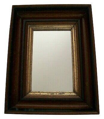 Victorian Mahogany Picture Frame with Gilt Liner - Inset Mirror - U.K. - 19th C.
