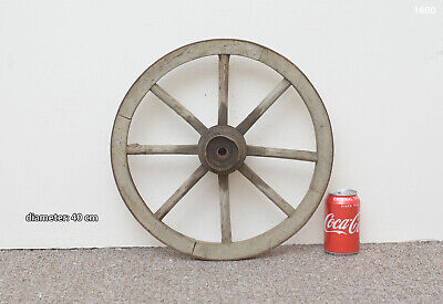 Vintage old wooden cart wagon wheel  / 40 cm - FREE DELIVERY