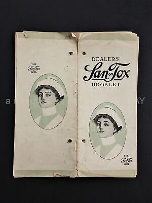 1918 antique SAN TOX DEALER CATALOG w PRICES quack medicine laxative tea remedy+