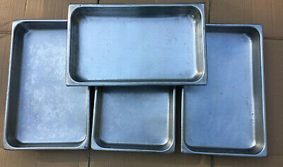 """LOT 4 Stainless Steel 2.5"""" Deep Full Size Steam Table Pans 8819A"""