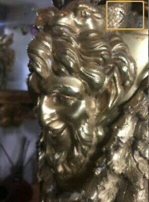 French Antique Satyr Devil Clock Louis XV Style 19th Century