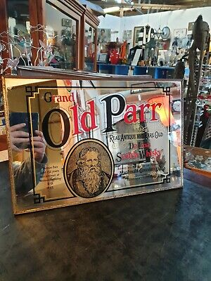 Vintage Grand Old Parr Scotch Whisky Bar Mirror