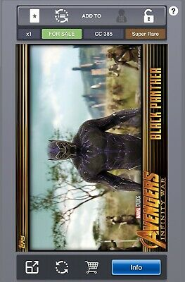 Topps MARVEL Collect DIGITAL Card - Infinity War Gold - Black Panther (385 CC)