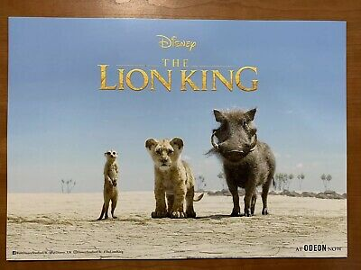 EXCLUSIVE- THE LION KING Odeon Poster -from the Official 2019 The Lion King Film
