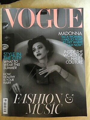 Vogue U.K.  June  2019 Madonna Cover And Interview.   Unseen Whitney Houston New