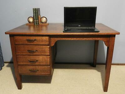 ANTIQUE VINTAGE ART DECO INDUSTRIAL RETRO OFFICE STUDY DESK SEWING TABLE 1930s