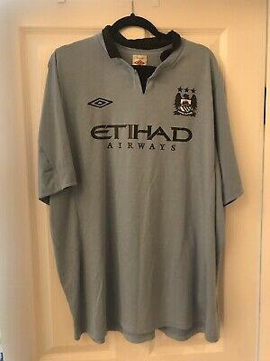 Manchester City XXL Vintage Nike Home Football Shirt 2014 Soccer Maglia
