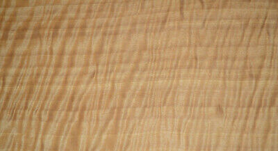 Curly Anigre Raw Wood Veneer Sheets 6.75 x 22 inches 1/42nd thick  4493-29