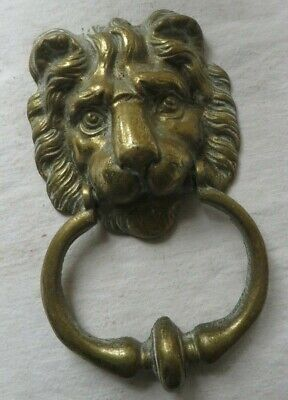 Large antique  lions head door knocker