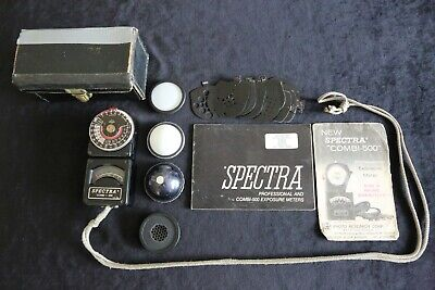 Vintage 'Spectra' Combi-500 Professional Exposure Meter. With Slides, Case, Etc