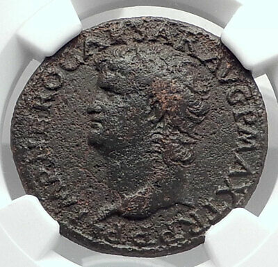 NERO Authentic Ancient 66AD Rome Genuine Original Roman Coin VICTORY NGC i80124