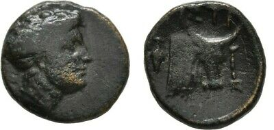 Ancient Greece 4-3 Cent BC Euboea Histiaia Nymph Bull Grape Bunch