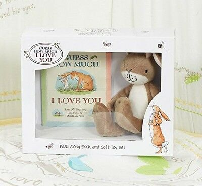 Guess How Much i Love You Libro & Suave Juguete Juego Ideal Baby Shower Bautizo