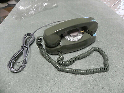 1984 Green Western Electric Bell System Princess Rotary Desk Telephone-Restored