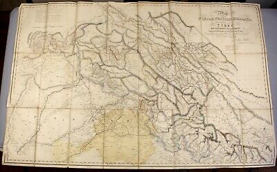 FRENCH ANTIQUE MAP Asia Physical India Himalaya Everest