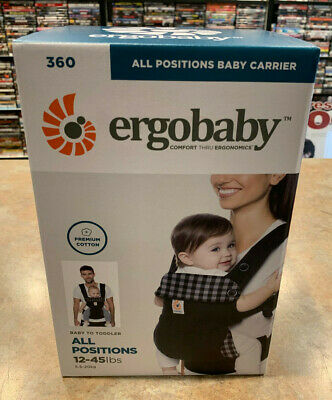 Noir Ergobaby 360 Infant Carrier All Positions Baby To Toddler 12-45lbs - New