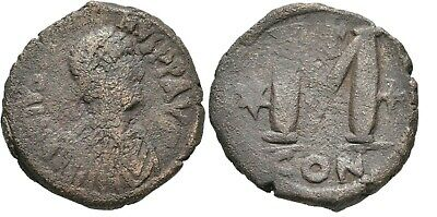 Ancient Byzantine 518-527 Justinian I Constaninople Large Follis #2