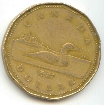 Canada 1987 Loonie Canadian One Dollar 1 *EXACT* COIN