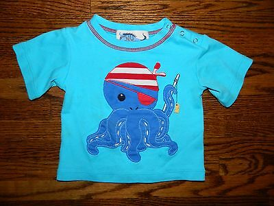 Boy's Boutique Turquoise Octopus Shirt Size 18/24 by GNU Brand